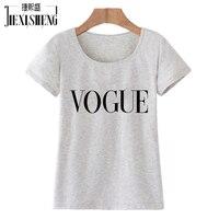 2016 Punk Style Summer Tshirt Harajuku Tumblr VOGUE Letter Printed T Shirt Women Tops Blusa