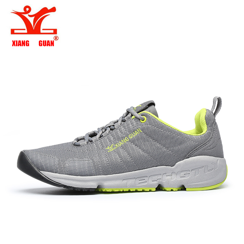 ФОТО 2017 XIANGGUAN Summer Men Trail Running Shoes Mesh Athletic Trainers Walking Breathable Man Outdoor Sports Sneakers size 39-44