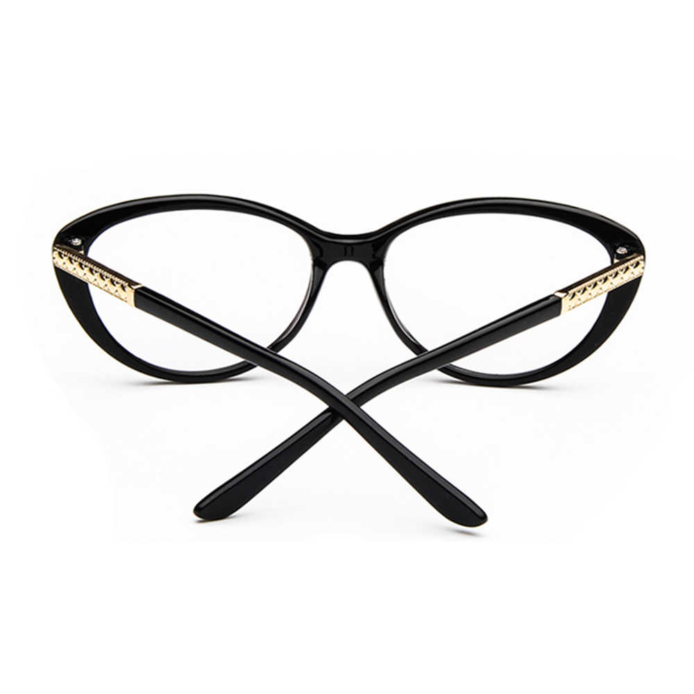 Fashion personality CatEyes frame Classic TREND Spectacles with Optical lenses or Photochromic gray / brown Lenses