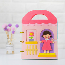DIY Craft Kit Girls Story Theme Book Handmade Mom Sewing Special Gift For Baby Felt Package Toys Picture Children