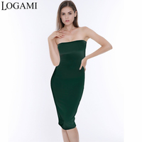 Women Off Shoulder Dress Summer Party Dresses Club Ladies Midi Bodycon Dress 2017 White Black Green