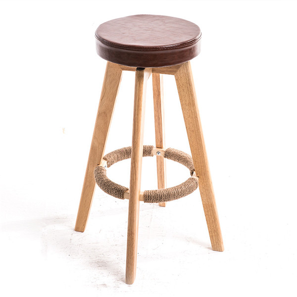 Bar Chair Rotating High Counter Stool Nordic Retro Minimalist Style Modern Kitchen Furniture Breakfast Swivel Chair 32x32x63cm