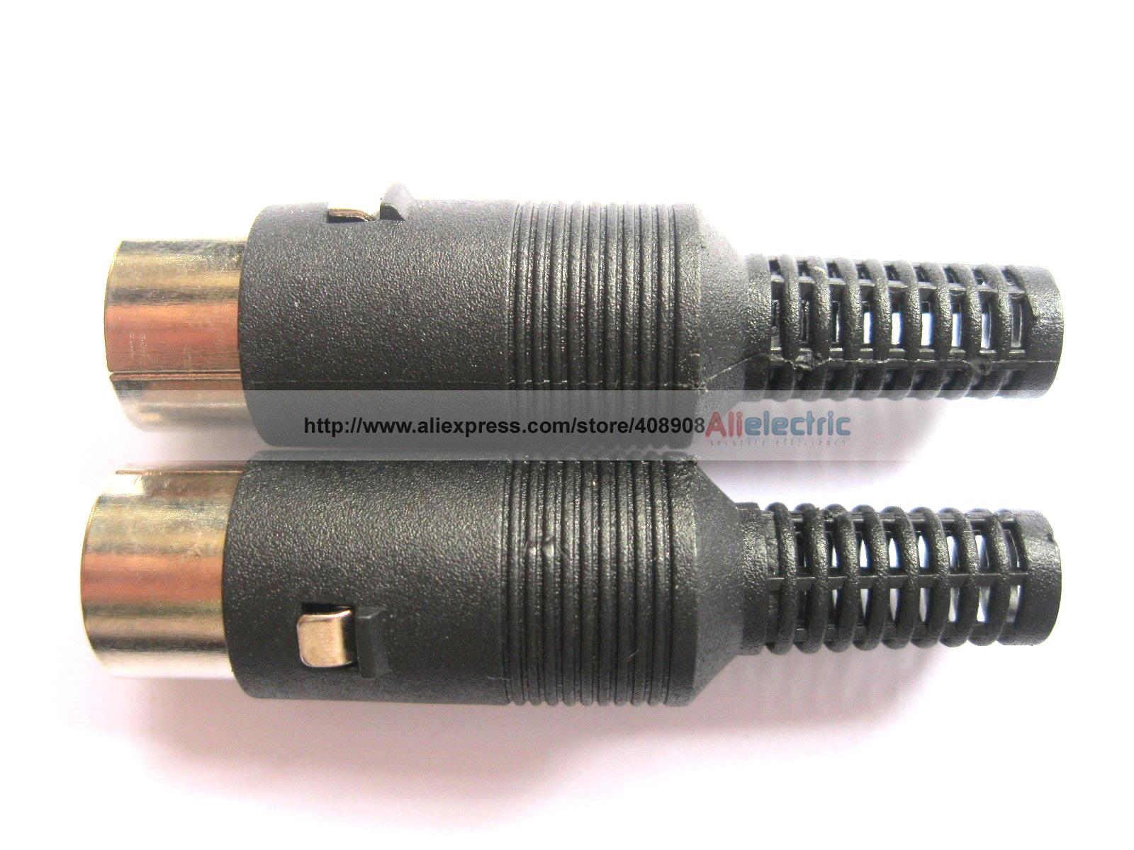 30 Pcs DIN Plug Connector 4 Pin with Plastic Handle
