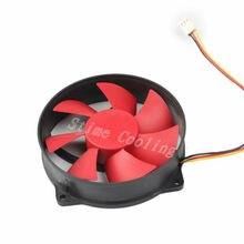 10 шт./компл. охлаждающий вентилятор постоянного тока 12V 3pin красный круглый 9 см 90 мм 9525 компьютер Процессор кулер