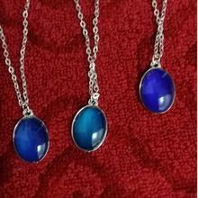 Новое ожерелье настроения модный Овальный Кристалл округлое ожерелье настроения 60 шт./партия