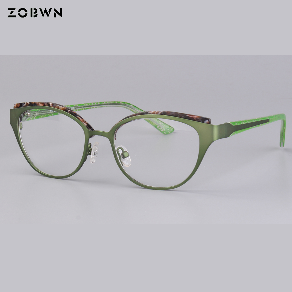 high grade metal Cat Eye glasses Men Women butterfly shape Eyeglasses Frame fashion Computer Glasses Frame