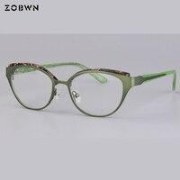 105fcea45 High Grade Metal Cat Eye Glasses Men Women Butterfly Shape Eyeglasses Frame  Fashion Computer Glasses Frame