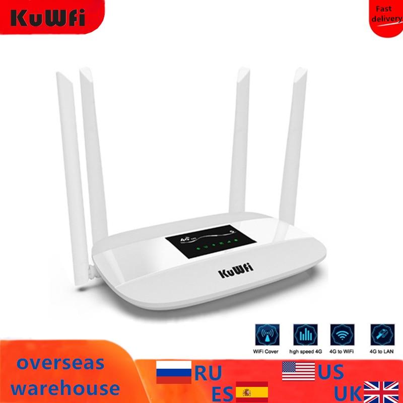 300Mbps Desbloqueado 4G LTE CPE Roteador Sem Fio Cartão SIM Suporte 4Pcs Antena Com Porta LAN Suporta até para 32 usuários Wi-fi