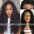 cheap top quality heat resistant long curly hair wig natural black afro loose curl wig synthetic lace front wigs for black women