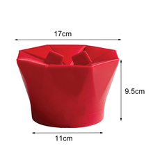 New Silicone Microwave Popcorn Maker Popcorn Popper Homemade Delicious Popcorn Bowl Baking Tools Foldable Bucket Container popcorn