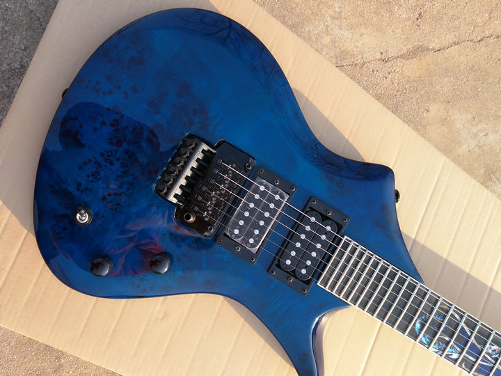 Custom Shop sg guitar 27 frets ebony fingerboard with bulecolor abnormity sg guitar Floyd Rose Tremolo SG Electric Guitar china oem firehawk guitar wholesale custom shop sg electric guitar a piece wood of the neck electric guitar