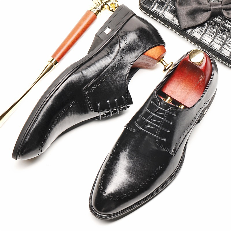 2018 spring and autumn new fashion men's leather shoes leather Brock England retro carved men's shoes business dress trend shoes 2015 new spring and autumn full for grain embossed leather england men s solid fashion business dress wedding derby shoes flats