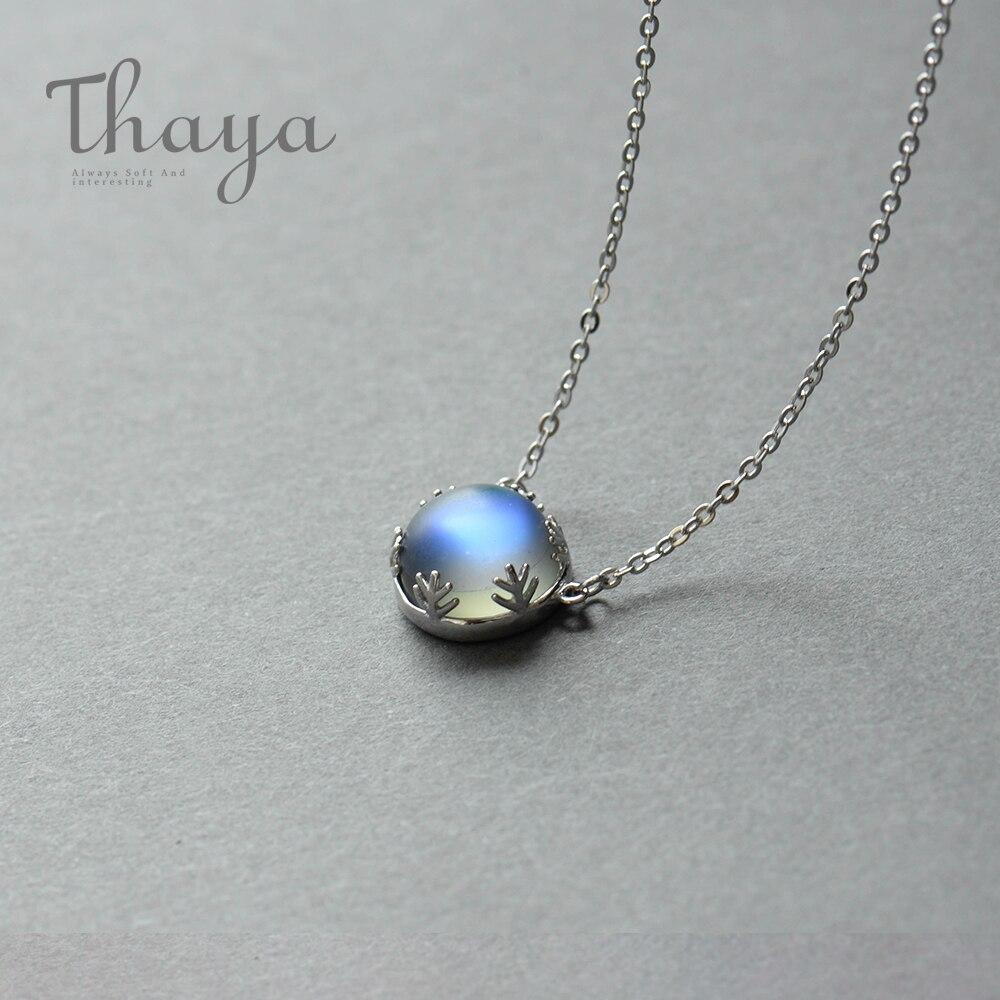 Thaya Aurora collar de Halo de piedras preciosas de cristal s925 plata escala de la luz del bosque mujer colgante collar elegante de moda Grils joyería
