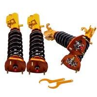 Coilovers amortecedor para toyota corolla e90 e100 e110 ae92 ae101 ae111 ajustável dureza suspensão frente suporte traseiro