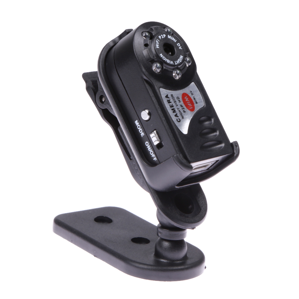 Mini WiFi Car DVR Upgrade Q7 720P HD DV Wireless Car IP Camera Night Vision Video IR LED Dispaly Motion Detection Dash Cam