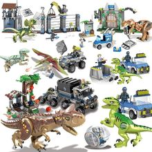 Legoings Dinosaurs Toys Jurassic World 2 Fallen Kingdom Sets Blue Owen Indoraptor Rex T. Models Building Block Toy