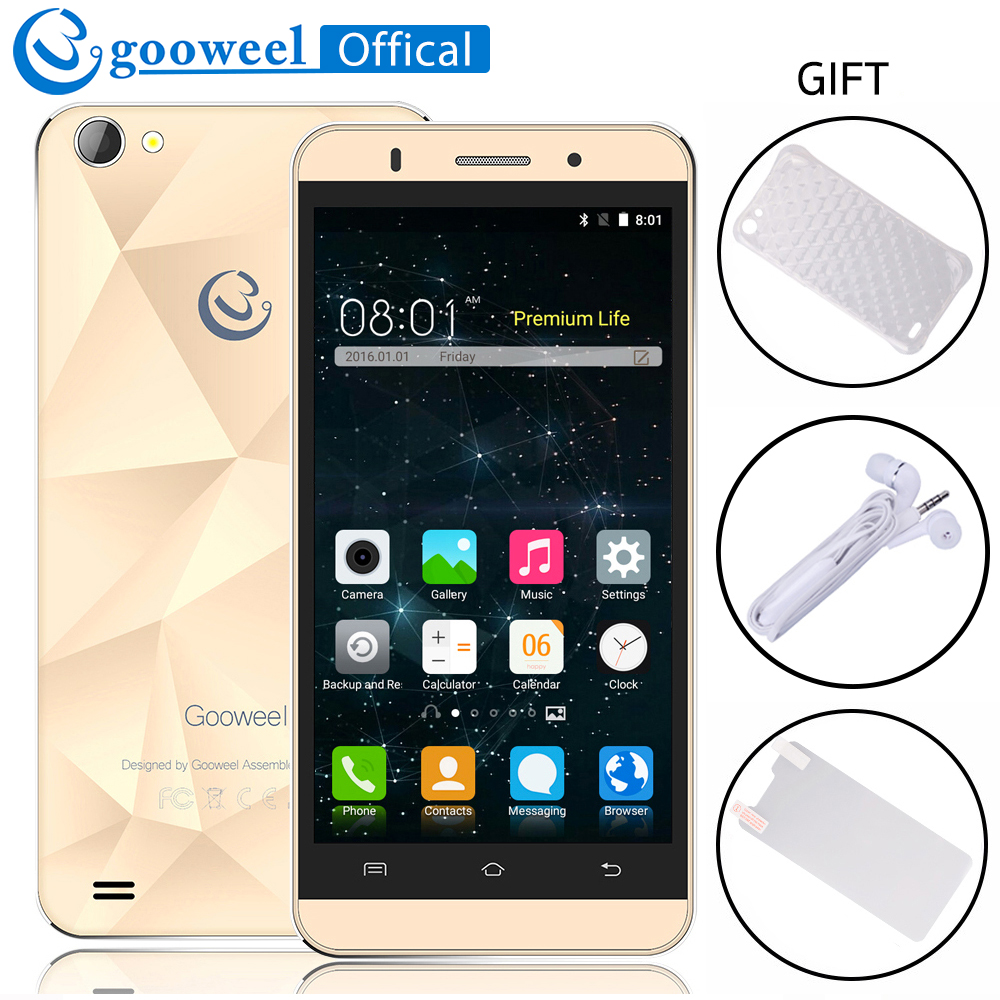 Original Gooweel M5 Pro Mobile Phone MTK6580 Quad core 5 inch IPS Screen Smartphone android 5