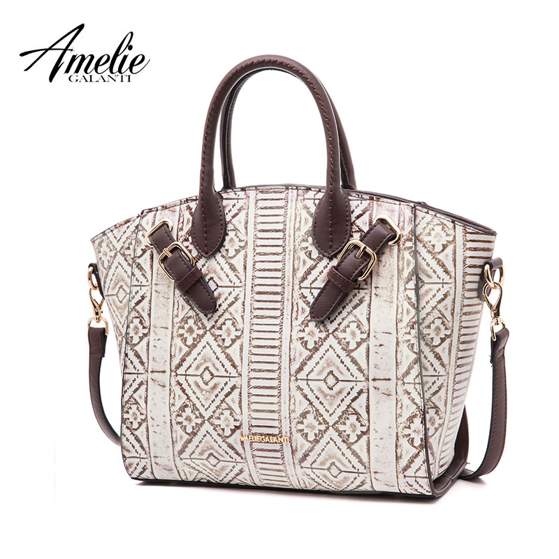 AMELIE GALANTI Women Handbag Large Capacity Fashion Special Fabrics Geometric Pattern Embossing Personality rectangle pattern maybelline new york мягкий гелевый карандаш для глаз gigi collection бежевый 1 1 г