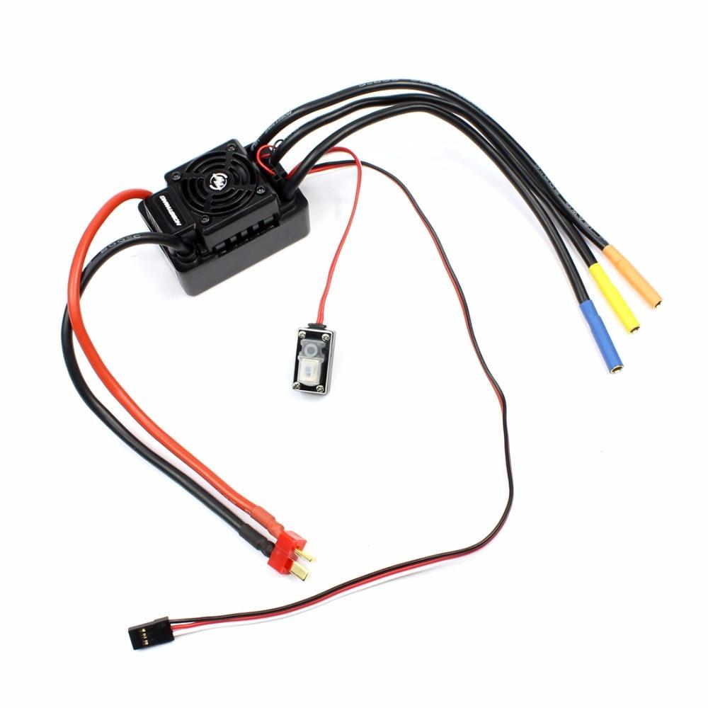 Hobbywing EZRUN WP SC8 120A Водонепроницаемый Скорость контроллер бесщеточный ESC для Радиоуправляемый автомобиль прибор для украшения шоколадом с XT60/T ...