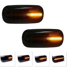 лучшая цена 2Pcs LED Dynamic Side Marker Turn Signal Light For VW Bora Golf3 4 Passat Polo  Lupo Sharan Vento