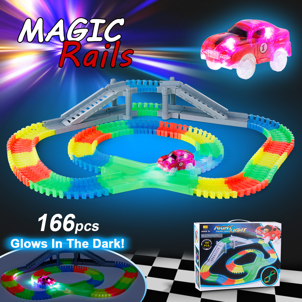 MAGICYOYO 166PCS Flexible Track Race Car