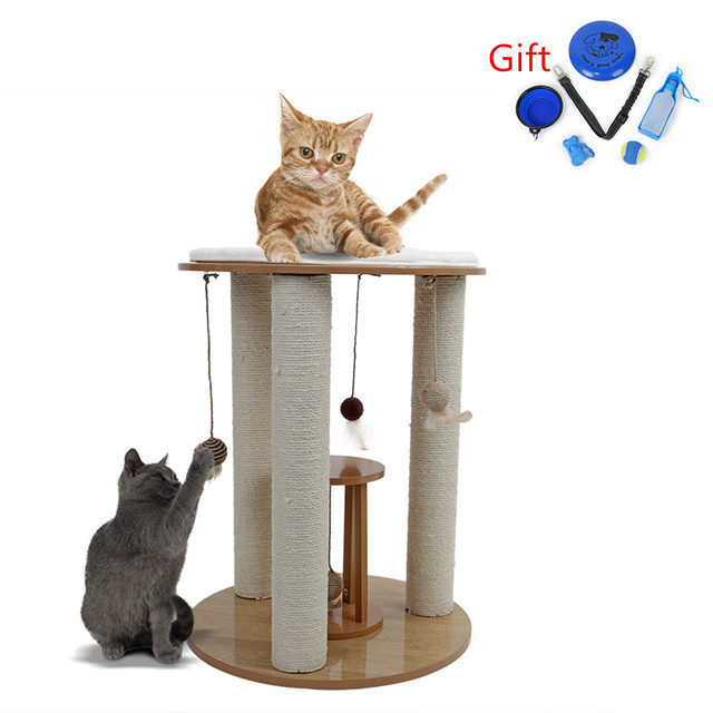 Domestic Delivery Multifunctional Creative Cat Tree with Scratching Removable Pad Cat Furniture Climbing Toy Cat House For Kitty