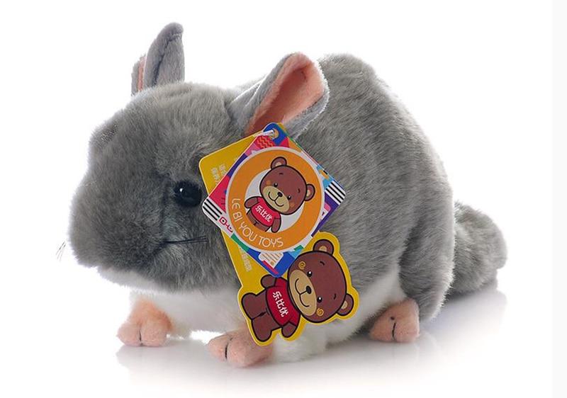 Cuddly Lifelike Grey Chinchillidae Plush Toys Soft Realistic Chinchillas Mouse Stuffed Animal Toy Birthday Gifts For Kids