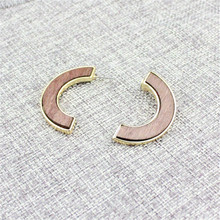 2016 free shipping fashion romantic The latest fashion earring  wood material combination of restoring ancient ways Ms eardrop