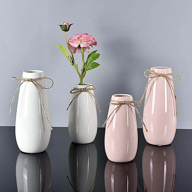 Tabletop Flowerpot Ceramic Simple Flower Vase Nordic Style