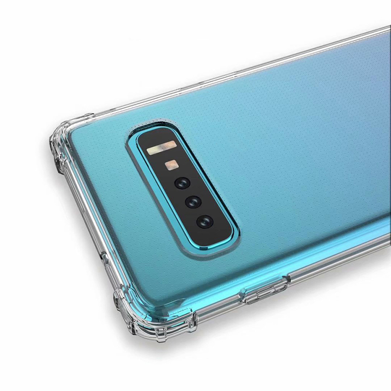 Clear ShockProof Soft Silicone Case For Samsung Galaxy S8 S9 S10 Plus 10E M10 M20 A6 A7 A8 Plus 2018 S6 S7 edge S10 Lite Cover  (7)