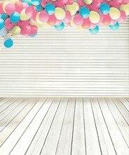 Backgrounds Wood Strip Flooring Wall Gap Balloons Photography Backdrops Photo Lk 1340