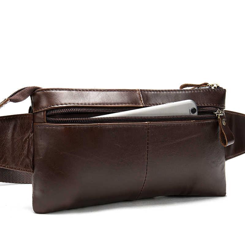 WESTAL 本革ウエストバッグベルト男性ウエストパック男性ファニーパックの男性のバッグマネーポケットベルト男性革ベルトポーチヒップバッグ