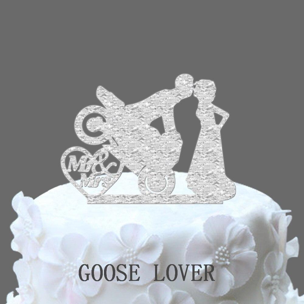 Motocross Cake Decoration Motorcycle Cake Topper Bride