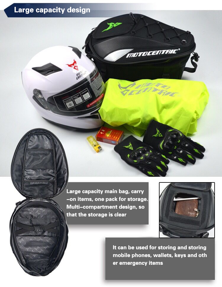 Brand New Waterproof Motorcycle Tail Bag Multifunction Motorcycle Rear Back Seat Bag High Capacity Motorcycle Rider Backpack 6
