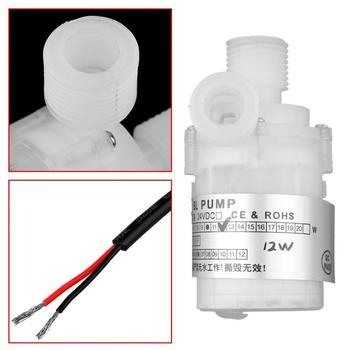 DC 12V 12W Ultra Quiet Submersible Water Pump 3.5m Lift Head  White Food Grade Brushless Submersible Water Pump mini high hydraulic head dc brushless submersible water pump 12v eco friendly submersible pump new arrival