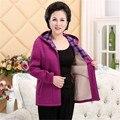 Mãe Casaco 2016 Super Quente Casaco Jaqueta de Inverno Das Senhoras das Mulheres Casaco de Lã Quente Mulheres Jaqueta