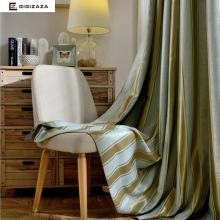 Mr Yang stripe jacquard window curtains black out blinds curtains for bedroom livingroom kitchen decorative for rooms grey