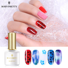 NASCIDO BONITA Blooming 6ml White Clear Gel Conjunto Gel Unha Soak Off UV Polonês Da Arte Do Prego Verniz Nail Art DIY Projeto