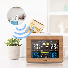 FanJu fj3365 Weather Station Color Digital Clock Temperature Humidity Sensor Barometer Forecast Desk Table LED Alarm Clock