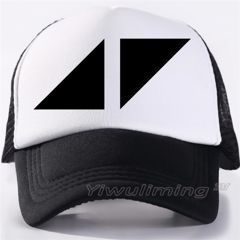 Men New Summer Trucker Caps AVICII TRUE Cool Summer Black