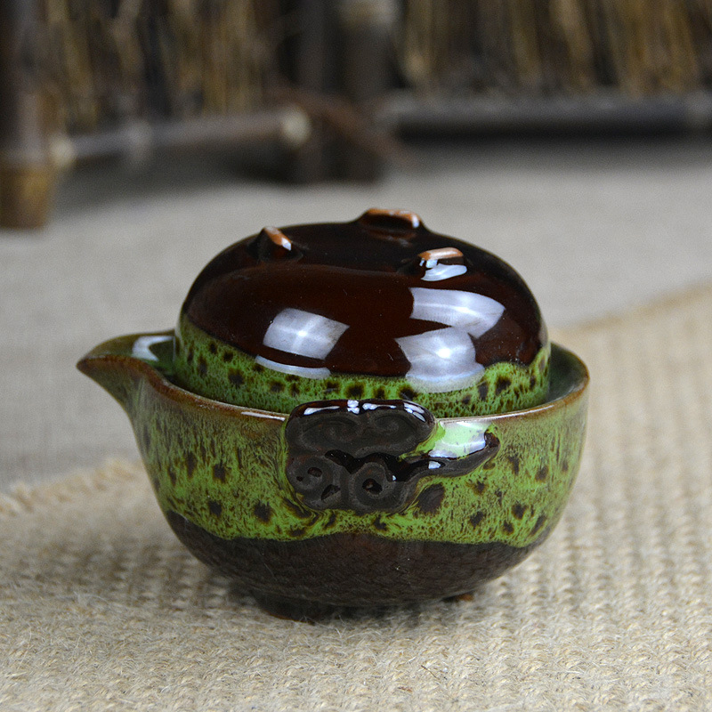 Beautiful Gong Fu Tea Ceremony Travel Teapot 1