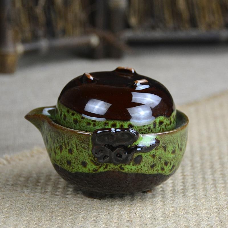 Beautiful Gong Fu Tea Ceremony Travel Teapot 1