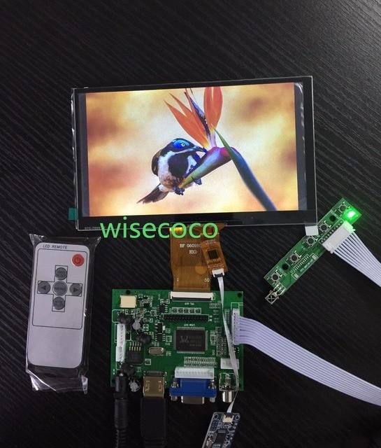 7,0 pulgadas 1024x600 HDMI Control remoto módulo LCD táctil capacitivo para Raspberry Pi B + Pcduino Banana pi