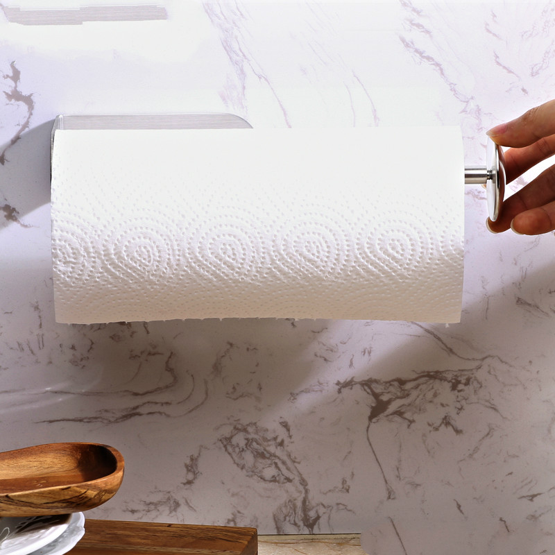 A1 Stainless steel seamless nonporous bathroom paper towel rack frame kitchen oil-absorbing paper frame wall frame roller LU5171 water absorbing oil absorbing cleaning cloth