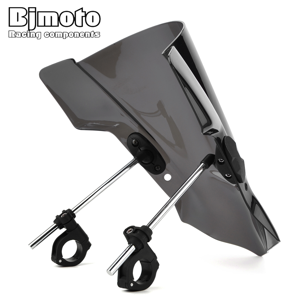 Bjmoto Motorcycle Pare-brise Windshield screen For <font><b>Yamaha</b></font> FZ07 MT07 2014-2017 MT03 <font><b>MT25</b></font> FZ09 MT09 FZ1 FZ8 YZFR6 Wind Deflectors image
