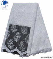BEAUTIFICAL embroidered net lace white lace fabric bridal embroidery french lace african ML4N671