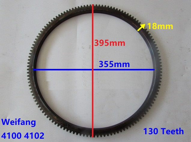 Fast Shipping Weifang 4100 4102 Flywheels Flywheel 130 teeth diesel engine Flywheel gear ring suit for China brand цены онлайн
