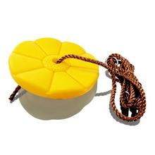 Yellow  Disk Seat Swing Daisy Disc Monkey Swing Rope Tree Swing