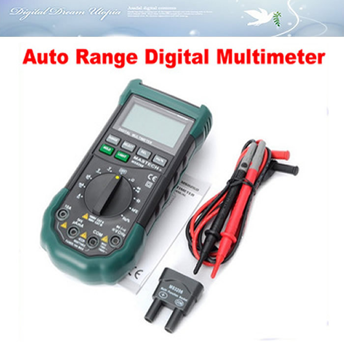 Free shipping!! best auto range multimeter digital MASTECH MS8268 Tester Resistance AC DC Ohm Hz 4000 Counts Voltmeter brand new  цены