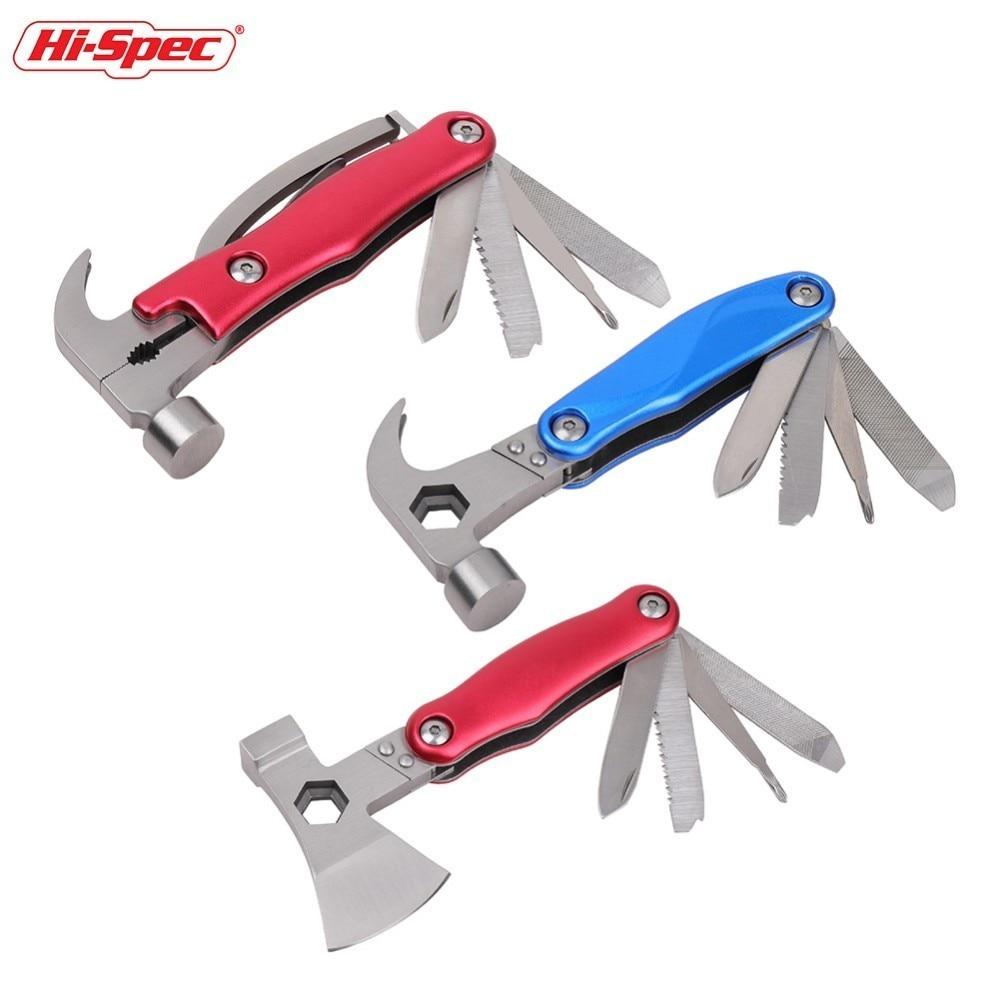 Werkzeuge Hallo-spec Multifunktionale Kombination Zange Hammer Axt Hand Werkzeuge Multitool Messer Schraubendreher Sah Klaue Hammer Herramientas 100% Garantie